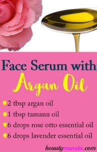 Face Serum Recipe with Argan Oil