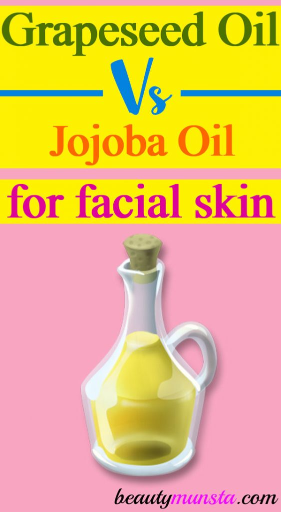 Check out the benefits of grapeseed oil vs jojoba oil for face skin in particular!
