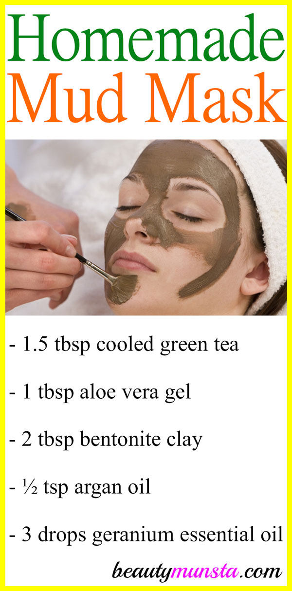 Homemade facial mud mask recipes