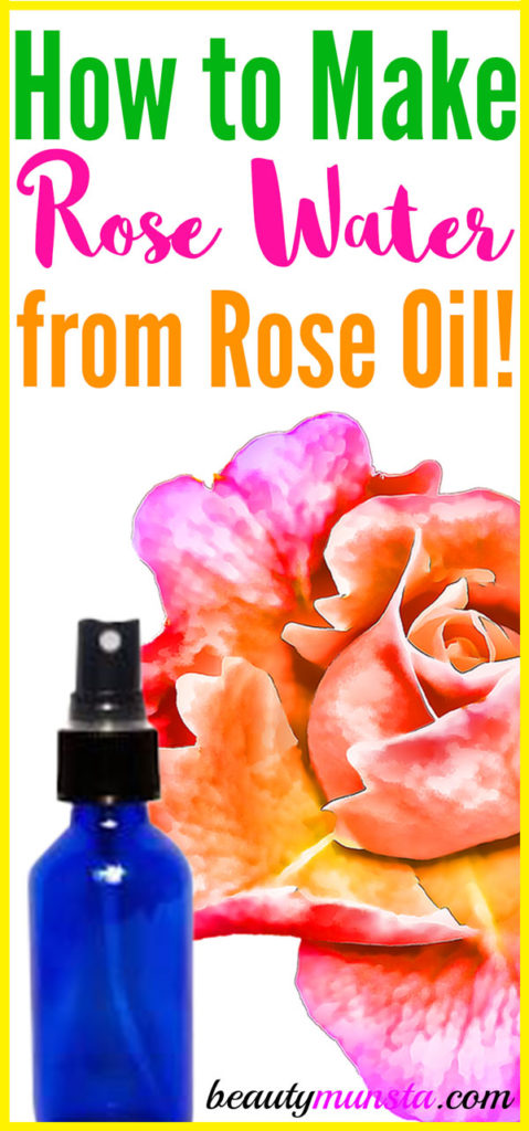 Check out this pretty cool hack showing how to make rose water from rose oil!