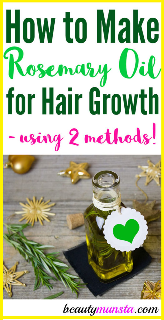 Learn how to make rosemary oil for hair growth in two ways!