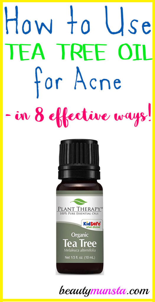 Learn how to use tea tree oil for acne as a natural treatment!