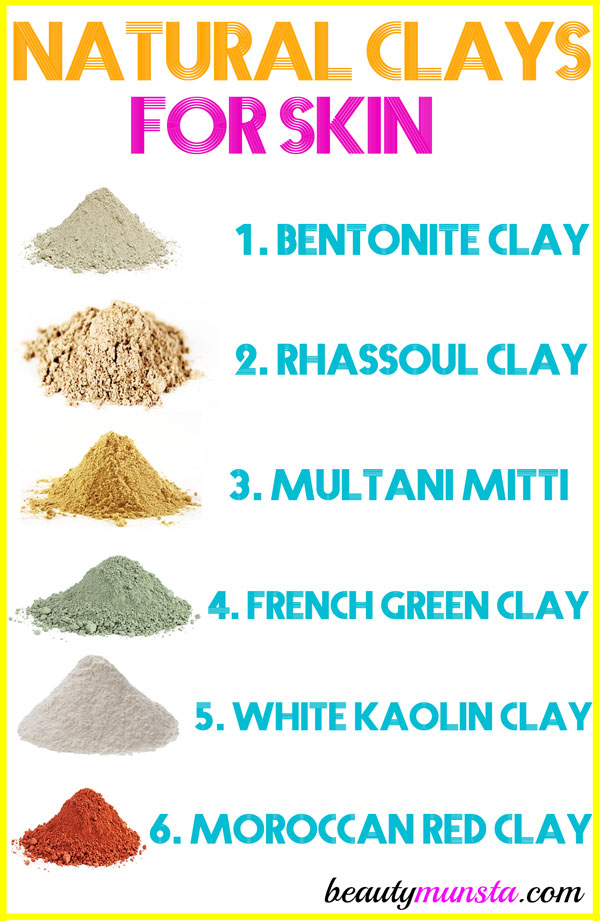Discover the 6 natural clays for skin and use any of them for amazing skin and overall beauty!