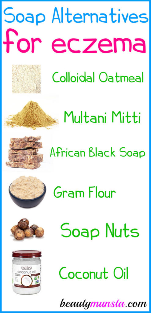 Here are some effective soap alternative for eczema that you can use in the shower. They're kid friendly too!
