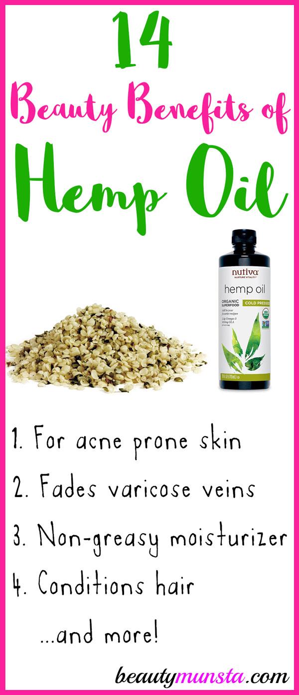 14 Marvelous Beauty Benefits Of Hemp Seed Oil Beautymunsta