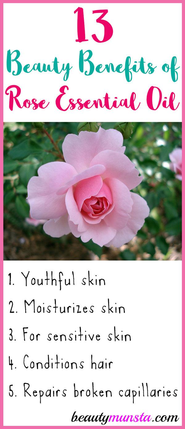 13 Beauty Benefits Of Rose Essential Oil Beautymunsta