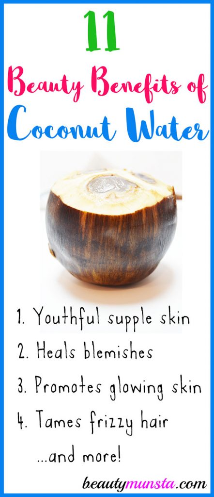 You drink coconut water thinking of beaches and vacations but did you know of the beauty benefits of coconut water?! You've got to check them out below!