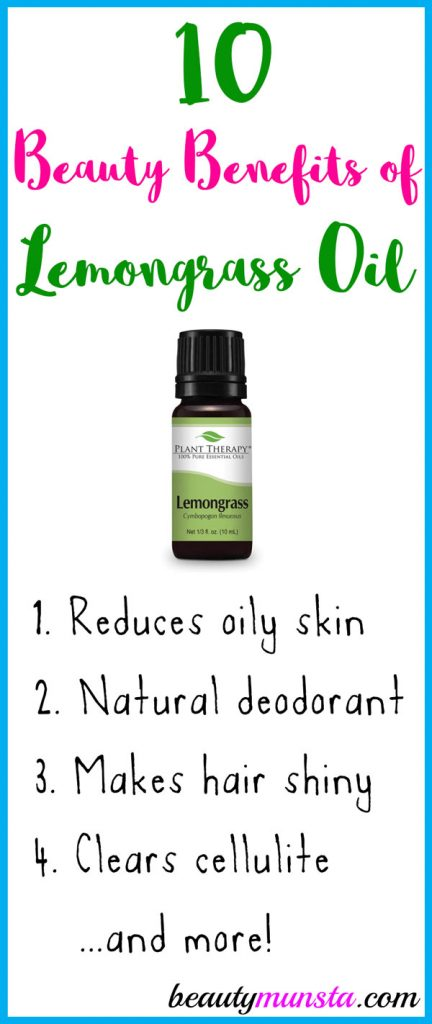 The beauty benefits of lemongrass essential oil include glowing toned skin, silky shiny hair and more!