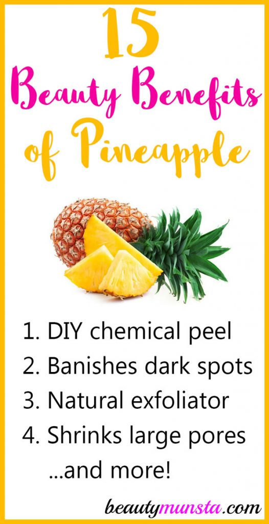 Get amazed by 15 beauty benefits of pineapple for your skin, hair and more!