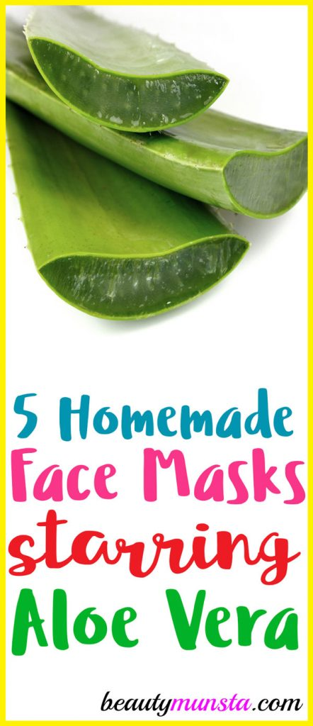 Pick any of these 5 aloe vera face mask recipes to use for pretty skin!