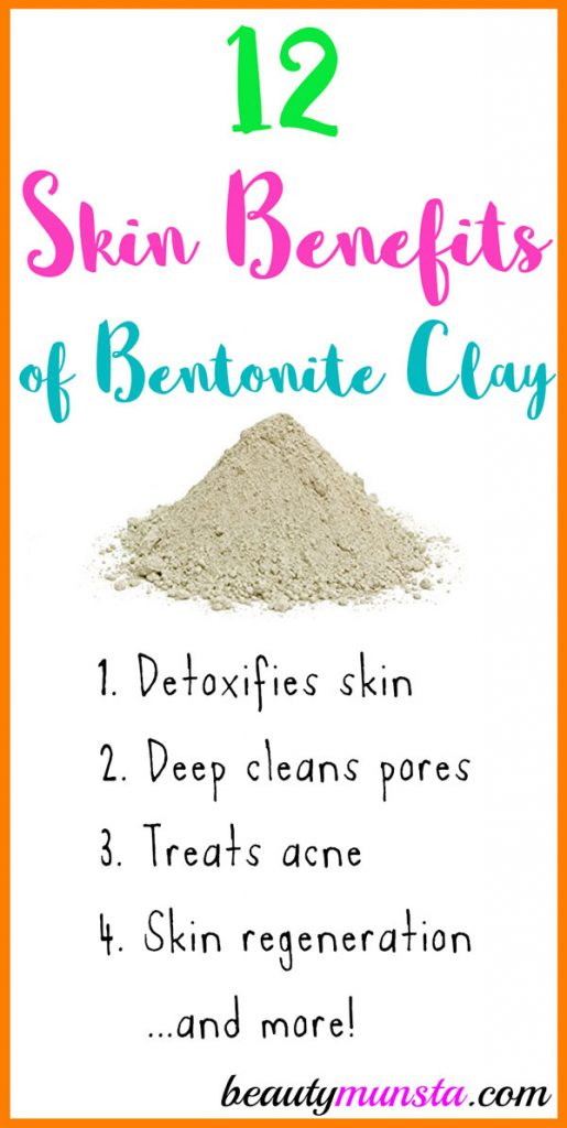 One of the most amazing skin care ingredients today is bentonite clay! It's great for skin car, hair care and general body health! Let's discover 10 benefits of bentonite clay for skin below!