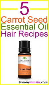 5 Carrot Seed Essential Oil Recipes for Hair