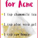 Chamomile Tea Mask for Acne