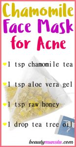 Chamomile Tea Mask for Acne