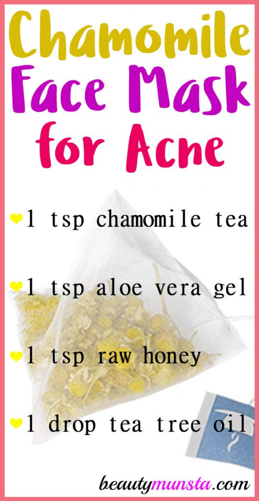 Try a chamomile tea mask for acne to get rid of those pesky pimples!