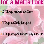 DIY Mattifying Spray
