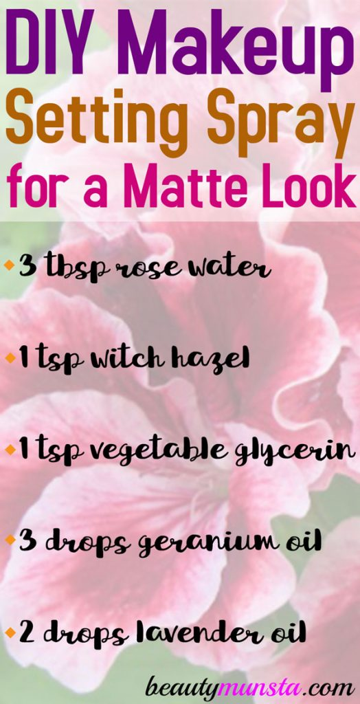 Try this DIY mattifying spray to keep your makeup from melting during summer!