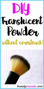 DIY Translucent Powder without Cornstarch