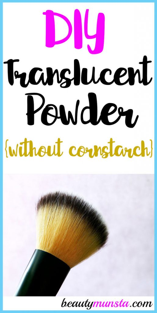 Is it possible to make a DIY translucent powder without cornstarch? Yes it is! I'll show you what you need!