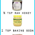 Face Mask with Coconut Oil and Baking Soda