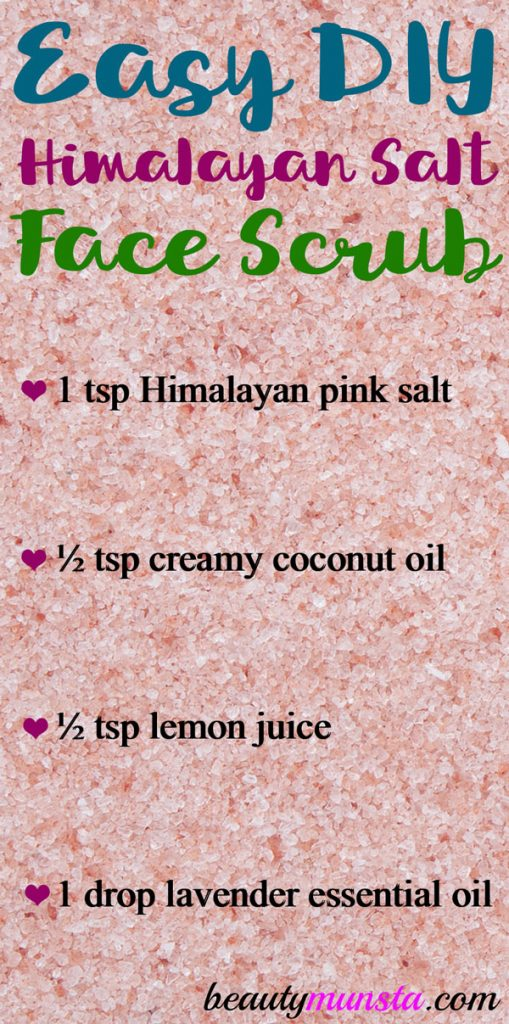 Make this Himalayan salt and coconut oil scrub for pretty skin!