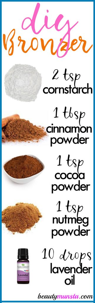 Follow this easy peasy homemade bronzer recipe for that gorgeous glow on your cheekbones!
