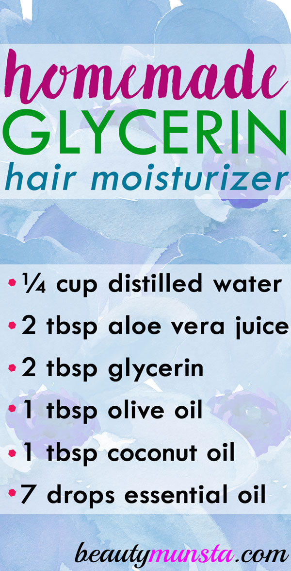 Use this homemade glycerin hair moisturizer for hydrated and healthy locks!