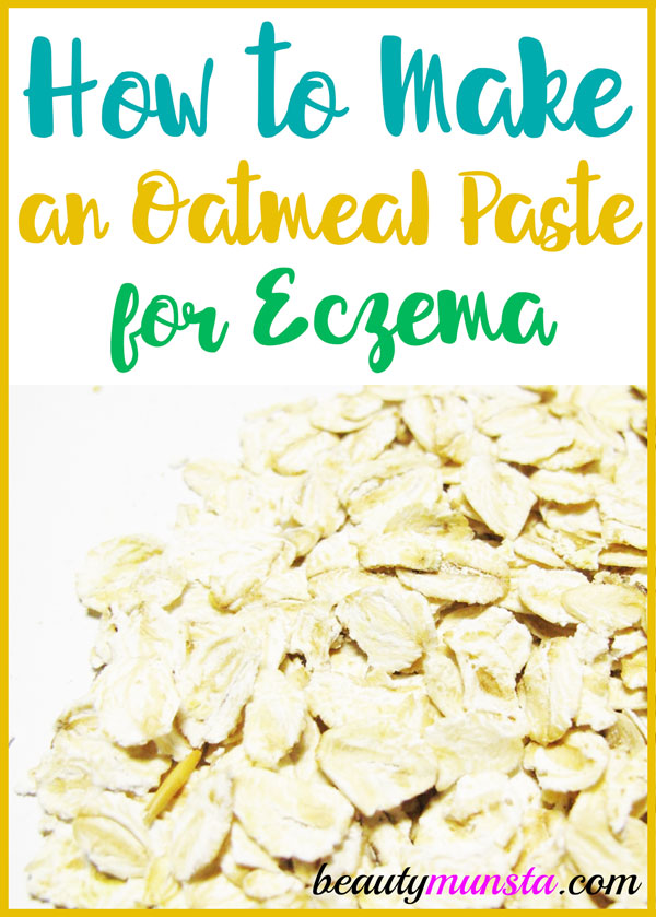 Learn how to make an oatmeal paste for eczema as a natural treatment for soothing relief!