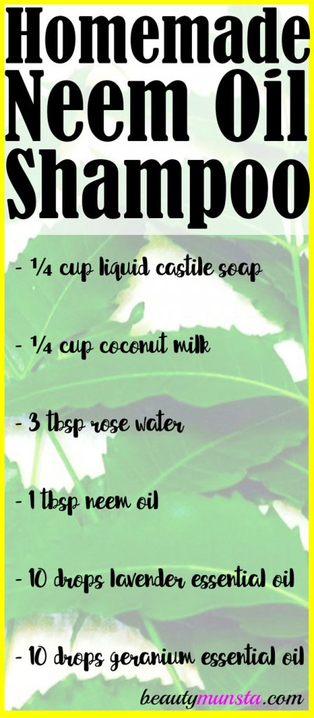 Learn how to make shampoo with neem oil in this article!