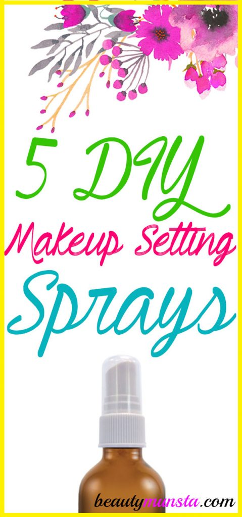 Try any one of these makeup setting spray recipes and quit spending dime on store-bought sprays!