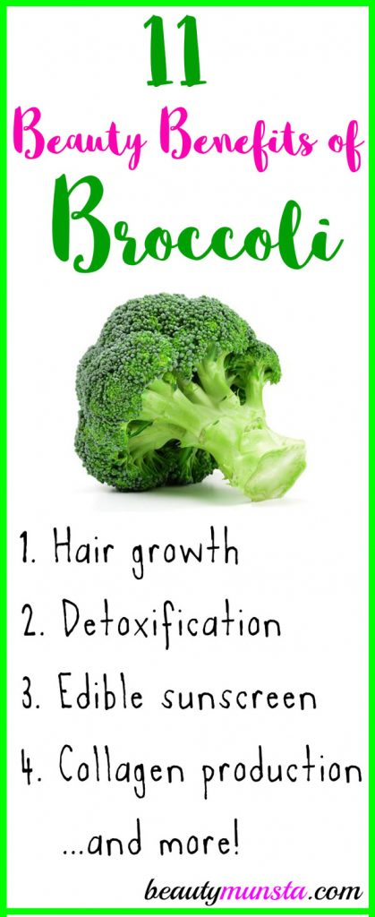 Below are 11 beauty benefits of broccoli for your skin, hair & more!
