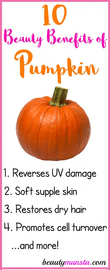 Below are 10 beauty benefits of pumpkin for your skin, hair & more!