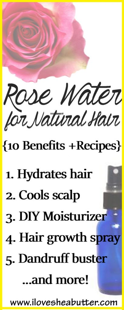 Try rose water for natural hair to benefit from its gorgeous uses for your scalp & hair! I've also shared some rose water hair care recipes so read on!