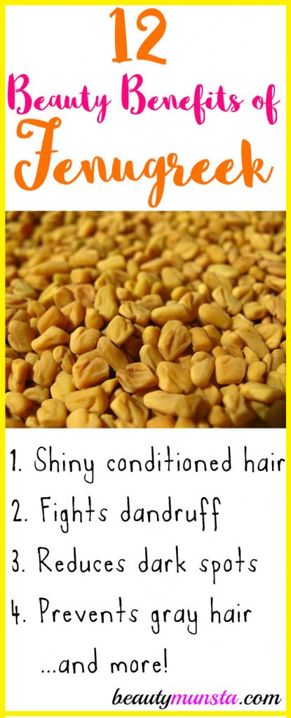 Do you know of the amazing beauty benefits of fenugreek seeds? They make hair shiny, reduce inflammation and make you slimmer! Read on to find out more!
