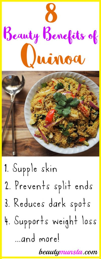 There are plenty of beauty benefits of quinoa from clearing up acne to promoting wrinkle-free skin! Check them out below!
