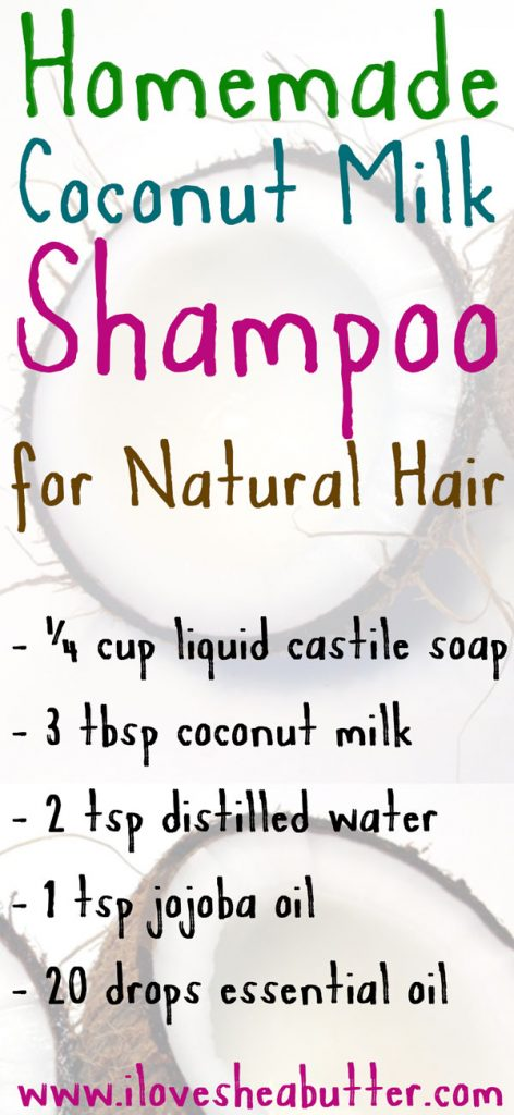 Check out this coconut milk shampoo recipe for natural hair!