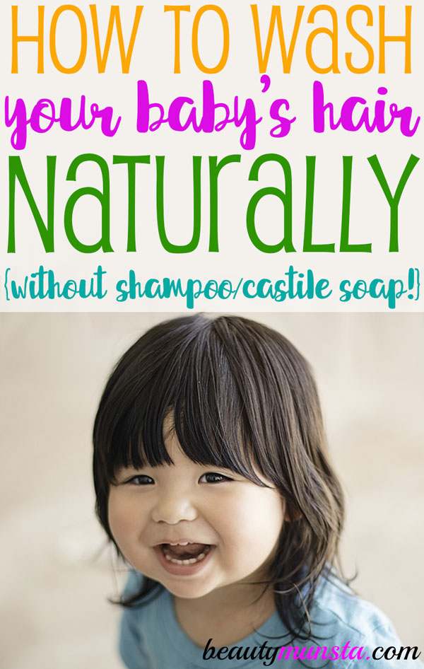 Make DIY baby shampoo (without castile soap) for your baby today!