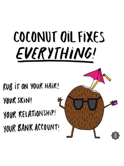 coconut oil funny