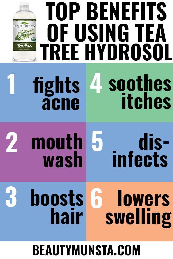beauty benefits of tea tree hydrosol