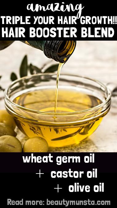 wheat germ oil castor oil olive oil for hair