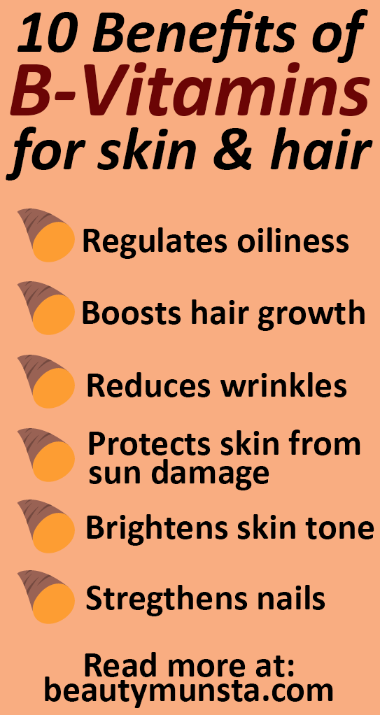 Top 10 Beauty Benefits of B-Vitamins for Hair & Skin - beautymunsta ...