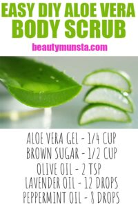 DIY Aloe Vera Body Scrub Recipe