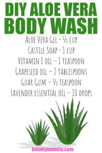 DIY Aloe Vera Body Wash With Castille Soap