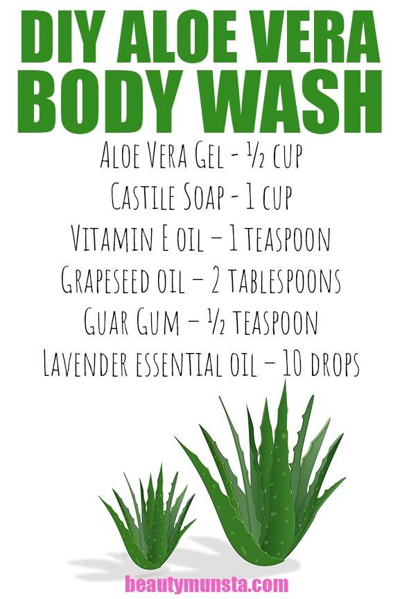 diy aloe vera body wash