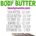 Easy DIY Mint Chocolate Body Butter Recipe