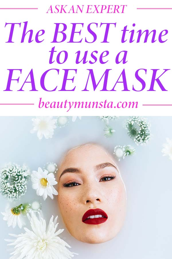 when to apply face mask before or after shower