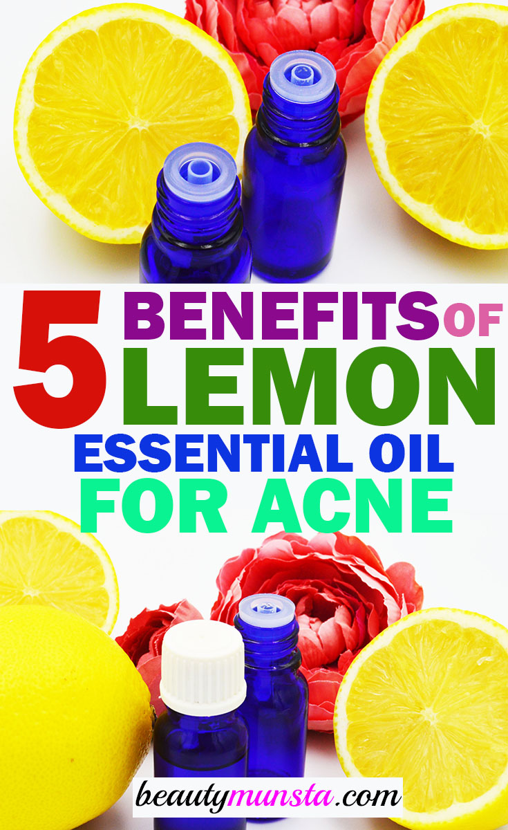 lemon essential oil for acne benefits