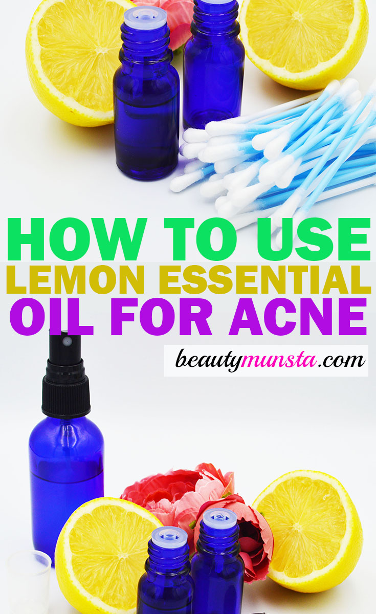 lemon essential oil for acne how to use